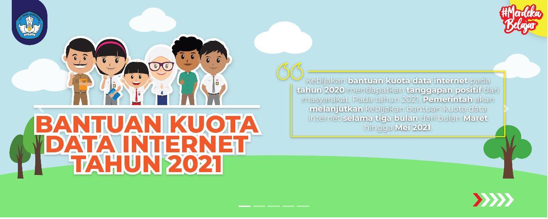 Rincian kuota belajar dari pemerintah pada 2021