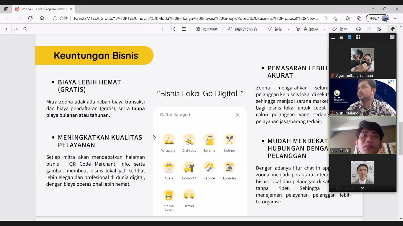 Workshop daring STIKI Malang